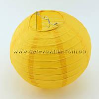 Бумажный подвесной фонарик, темно-желтый, 35 см