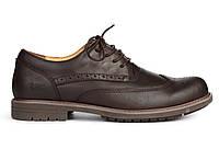 Мужские туфли Caterpillar CAT Brown (Катерпиллер) темно-коричневые
