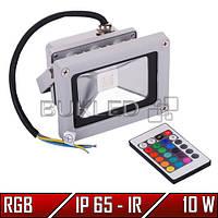 Светодиодный RGB прожектор, 10 Вт, 220 В, IP 65