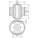 23-12 Сайлентблок переднего рычага передний Hyundai Accent, i10 (14), Solaris; KIA Rio; 545841G000, фото 2