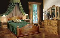"""Двуспальная кровать """"Афродита"""" из Дуба"""