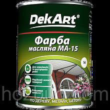 Краска масляная МА -15 DekArt (чёрная) 1кг