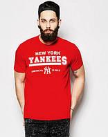 """Футболка мужская """"New York"""" красная Нью Йорк"""