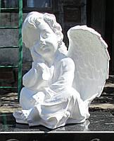 Скульптуры ангелов для памятников. Скульптура Ангелочка №3 из полимербетона 33 см
