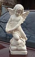 Статуя Ангел на камне из полимера 35 см, фото 1