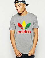 """Футболка мужская """"Adidas"""" серая Адидас"""