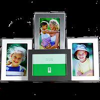 Мультирамка на 4 фото металлическая