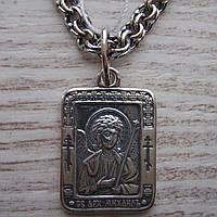 Серебряная подвеска-ладанка Святой архангел Михаил