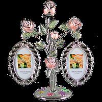 Фоторамка Родовое дерево двойное (металлическое)