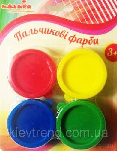 Пальчиковые краски 4х30 мл, Идейка