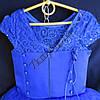 Платье нарядное бальное детское 5-6 лет Принцесса синее Украина оптом., фото 3