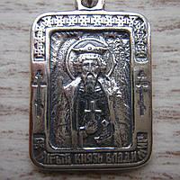 Серебряная подвеска-ладанка Святой Великий князь Владимир