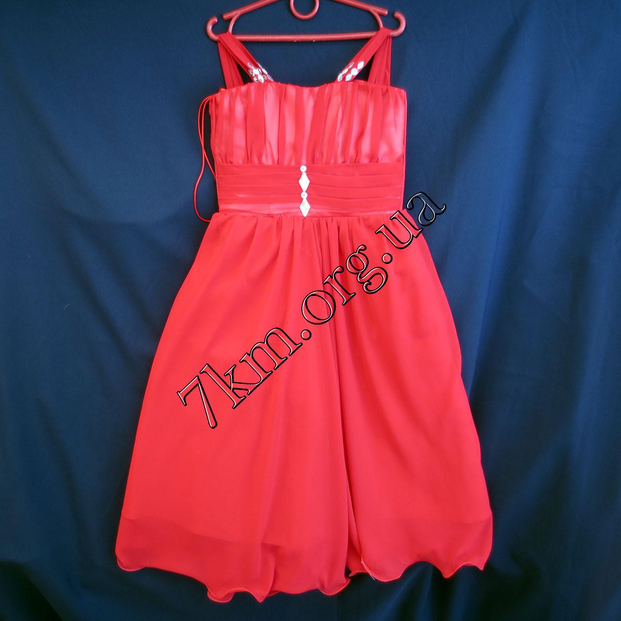 Платье нарядное коктельное детское 6 лет Грация красное Украина оптом.