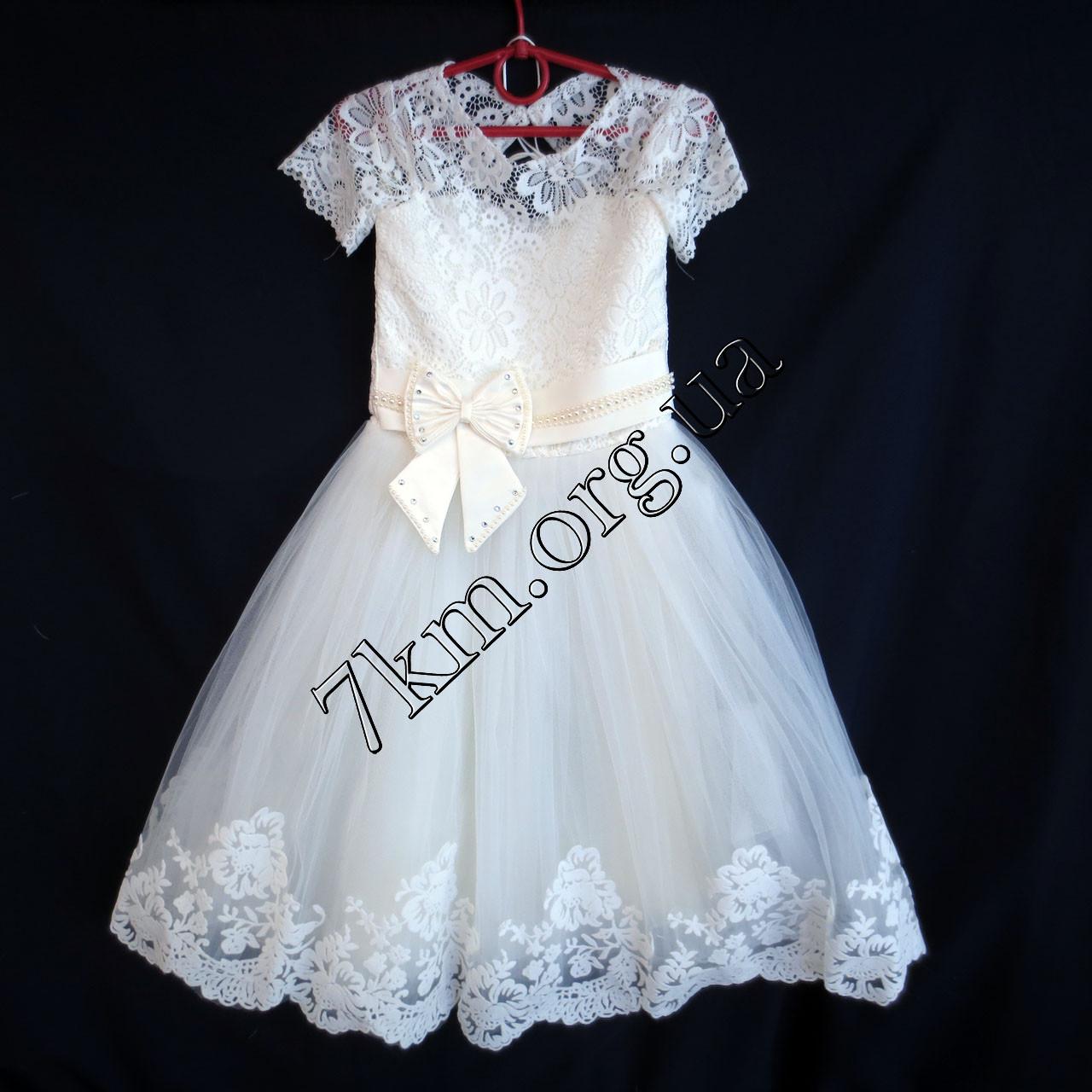 6ffe4297ac7f811 Платье нарядное бальное детское 6 лет Бархат белое Украина оптом ...