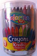 Восковые мелки 64 цвета. 33008PTR Colorino Польша