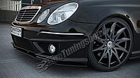 Диффузор переднего бампера Mercedes E W211 AMG послерест.