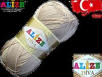 Пряжа Alize Diva 382 бежевый