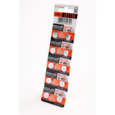 Батарейка часовая Maxell AG10/ LR1130/ LR54/ 390/ 389/ SR1130