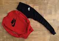 Мужской Спортивный костюм красный Nike(с черным принтом)