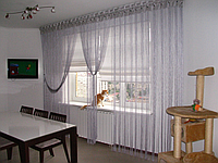 Однотонные шторы-нити белые 300 см*300 см