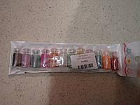 Набор бульйонок горошын для дизайна ногтей 12 шт.