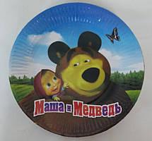 Паперові тарілки Маша і ведмідь