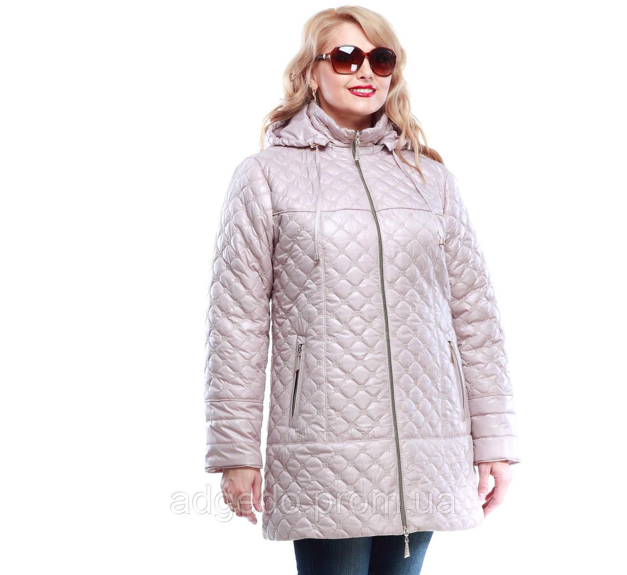 12c5b68d099 Куртка женская демисезонная стеганная большие размеры