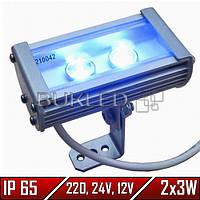 Линейный LED прожектор, 6 Вт, 121 мм, IP 65