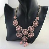 Колье с розовыми камнями