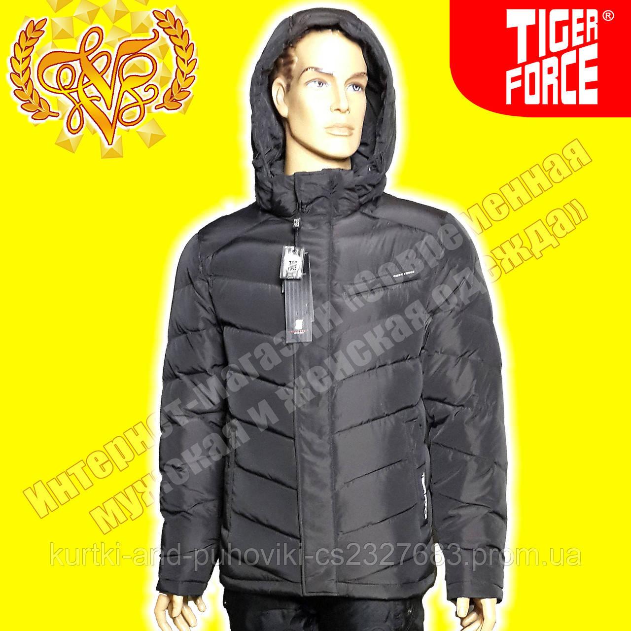 Пуховик - мужская куртка Tiger Force 379 Brown - Интернет-магазин  «Современная мужская и a21429e709f