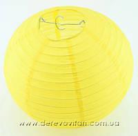 Бумажный подвесной фонарик, желтый, 40 см