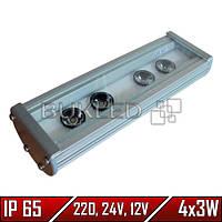 Линейный LED прожектор, 12 Вт, 196 мм, IP 65