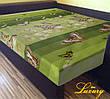 """Простынь на резинке 160х200 см """"Бабочки на зеленом фоне"""" in Luxury™ 32005"""