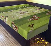 Простынь на резинке «Зеленая Бабочка» 160 ˣ 200