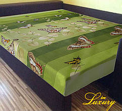 """Простынь на резинке """"Зеленая бабочка"""" 140 х 200"""