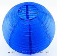 Бумажный подвесной фонарик, синий, 40 см