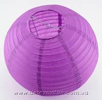 Бумажный подвесной фонарик, фиолетовый, 40 см