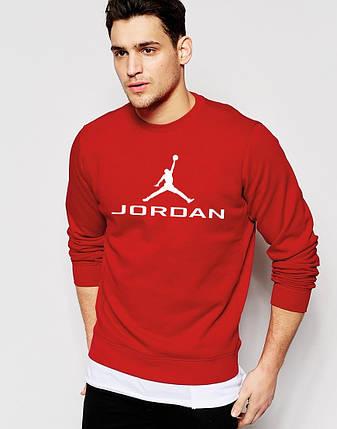 Мужской Свитшот Jordan красный Кофта, фото 2