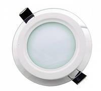 Светодиодный светильник 6w 4000K круглый со стеклом