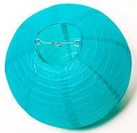 Бумажный подвесной фонарик, лазурный, 40 см