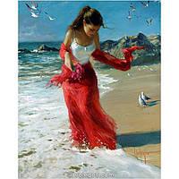 "Картина-раскраска по номерам ""Прогулка по пляжу"" 40х50 см ТМ Идейка"