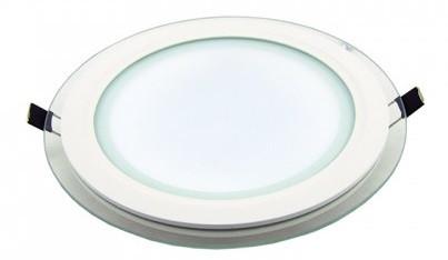 Светодиодный светильник 18w 4000K круглый со стеклом