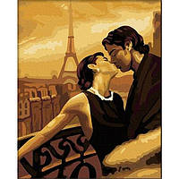 "Картина-раскраска по номерам ""Мечтами в Париже"" 40х50 см ТМ Идейка"