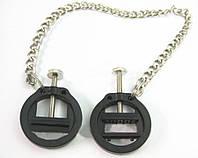 Зажимы для сосков пластиковые круглой формы с регуляцией давления и металлической цепью