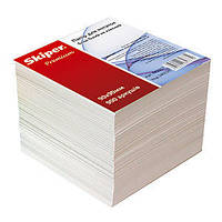 """Блок бумаги для заметок Skiper """"Premium"""" белый 9*9*9"""