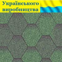 """Битумная черепица """"ЭКО"""" Зеленая"""