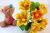 Цветы яблони 4см желтого цвета 3шт/уп