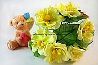 Цветы яблони 4см лимонного цвета 6шт/уп