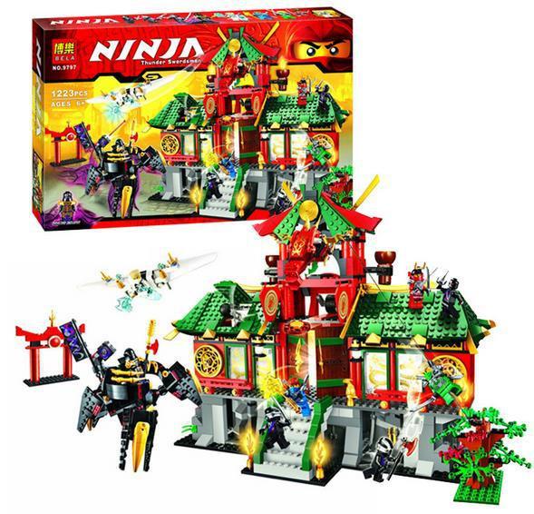 """Конструктор Ninjago Bela 9797 """"Битва за Ниндзяго Сити"""" 1223 деталей"""