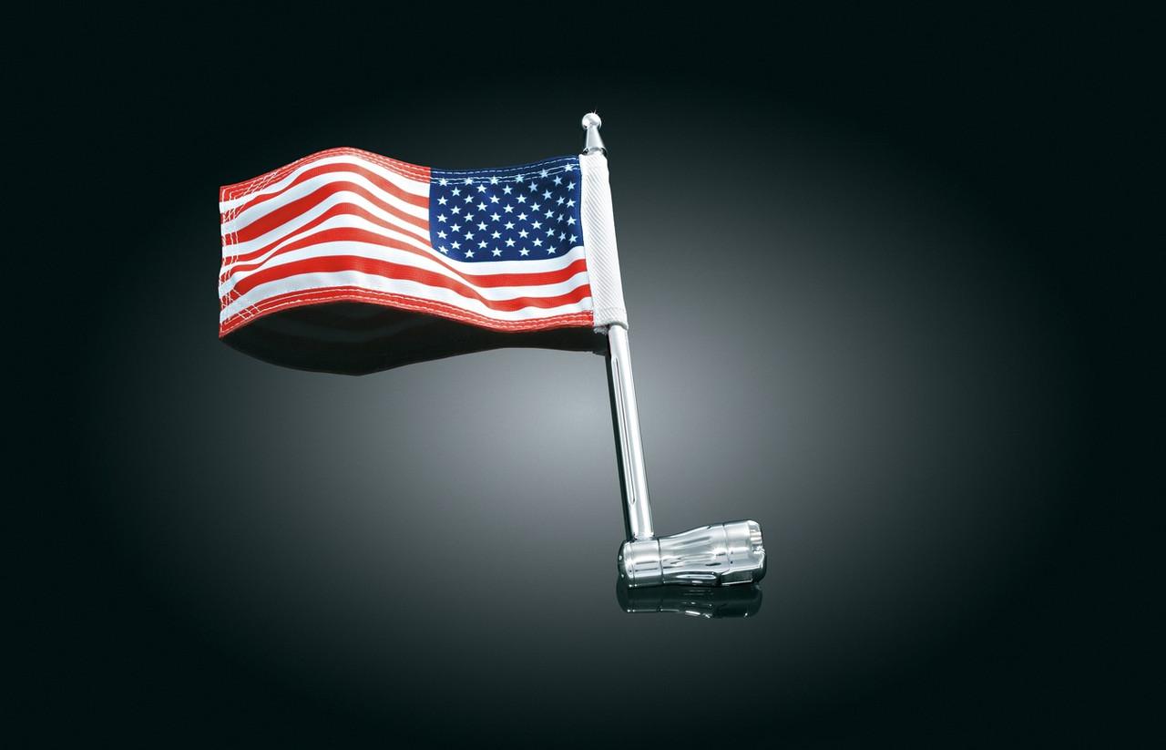 Флагшток з прапором США на багажник, Kuryakyn 4260
